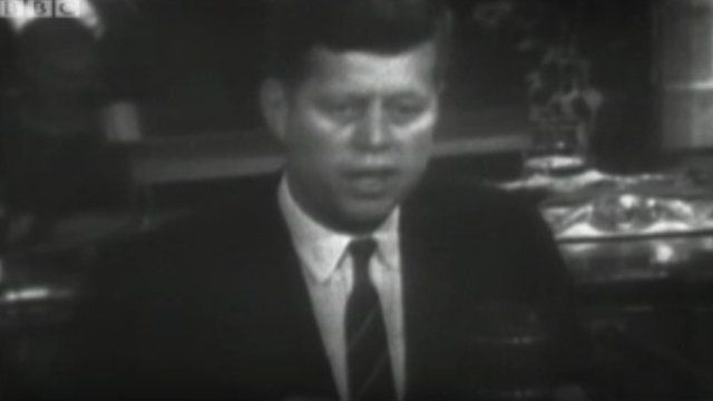 John F Kennedy giving a state of the union address