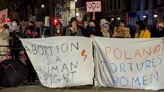 Biểu tình phản đối luật cấm phá thai hà khắc ở Ba Lan hồi tháng 10/2020