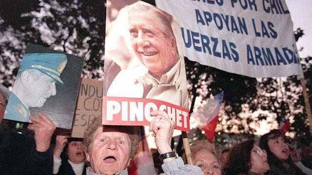 Manifestación por Pinochet