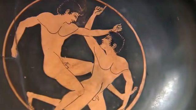 ilustração em cerâmica dos Jogos Ístmicos