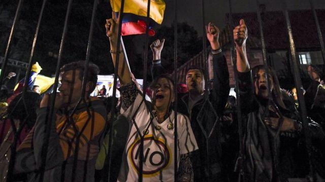 متظاهرون في كولومبيا