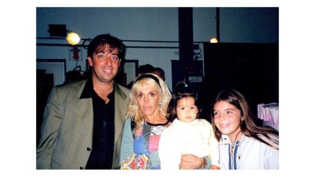 Maco Monroy con Claudia Villafañe y las hijas de ella y Maradona.