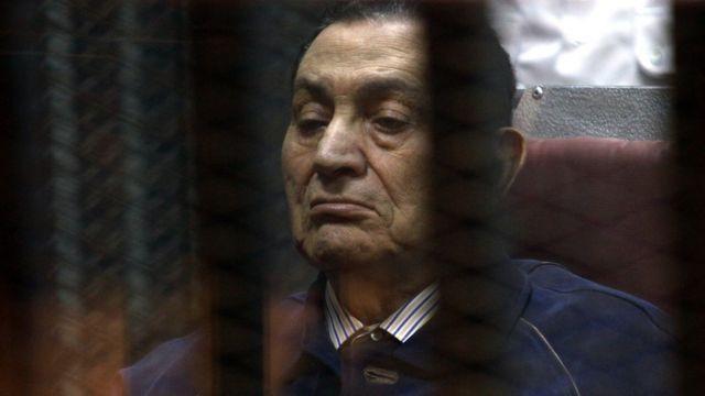 Hosni Mubarak behind bars