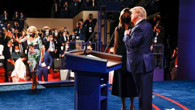 انضمت السيدة الأولى ميلانيا إلى الرئيس ترامب بعد المناظرة