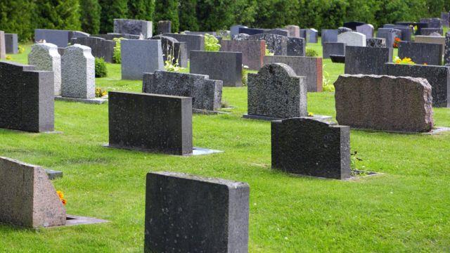 Cemitério, em foto de arquivo