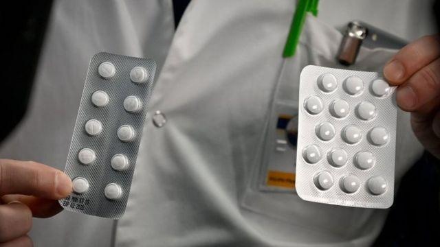 Cartelas de medicamento com cloroquina