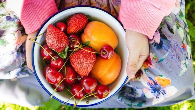 Bol de frutas.