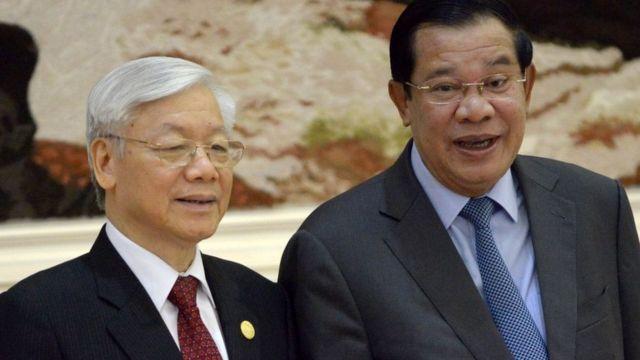 Tổng bí thư Nguyễn Phú Trọng trước đó đã có chuyến thăm ba ngày đến Campuchia và gặp gỡ Thủ tướng Hun Sen hồi tháng 7