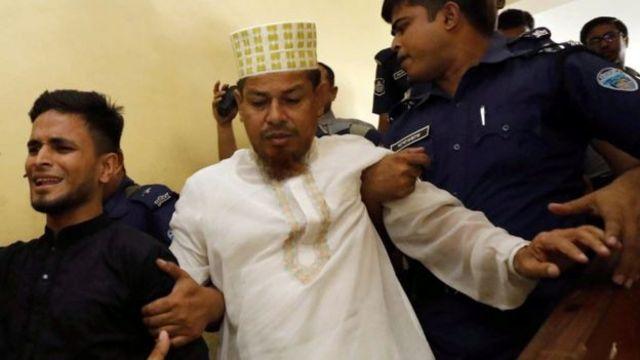 Head teacher Siraj Ud Doula as police dey arrest am