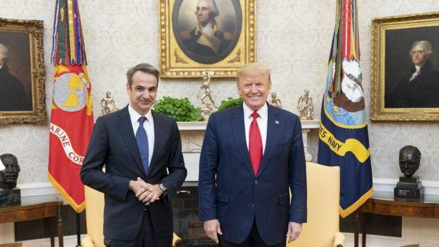 Yunanistan Başbakanı Miçotakis'in, ABD Başkanı Trump'ı ziyareti.