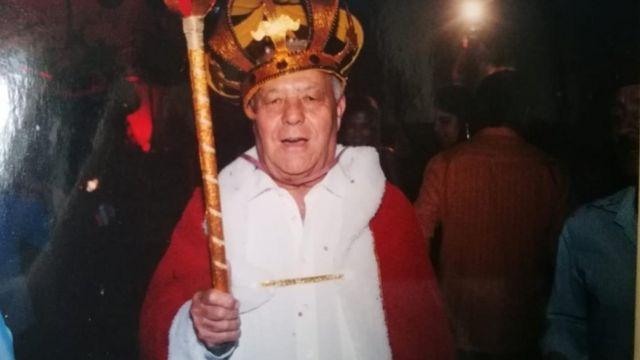 Ferreira comemorando Carnaval em Cajuri, Minas Gerais