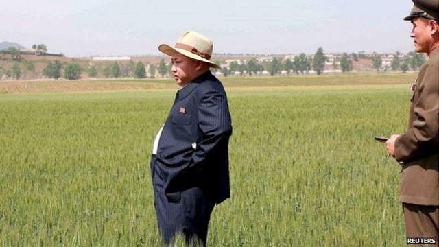 Líder norte-coreano Kim Jong-un visita fazenda em 2015