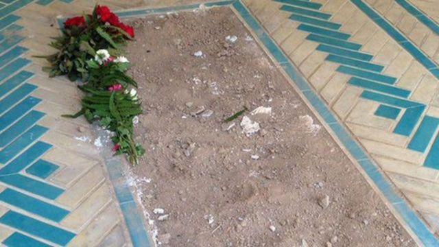 سنگ قبر مفقود شده آقای افشار