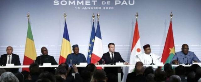 Aworan awọn orileede Sahel pẹlu aarẹ Macron