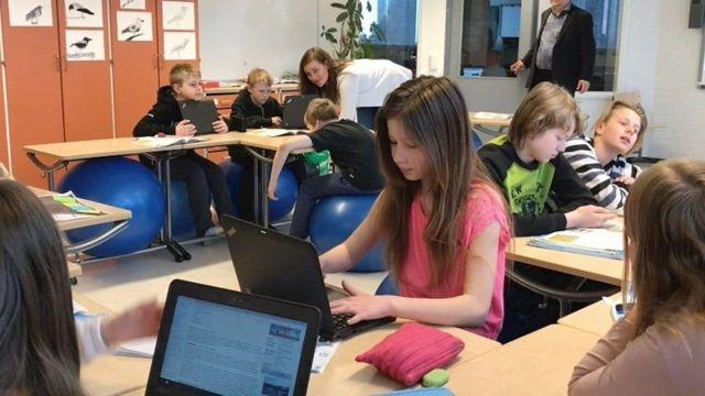Escuela en Finlandia.