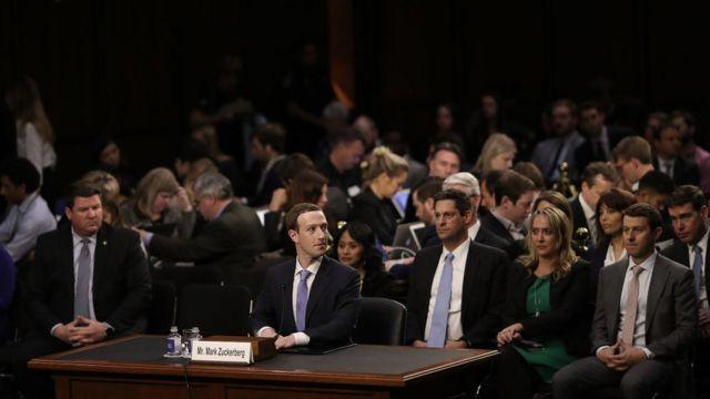 Mark Zuckerberg ante el Congreso estadounidense.