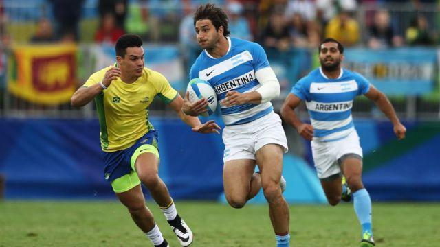 Jogo de rúgbi entre Brasil e Argentina na Rio 2016