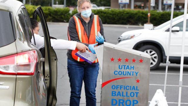 Drop box for votes in Utah