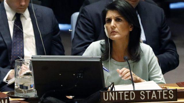 نيكي هايلي المندوبة الأمريكية في الأمم المتحدة