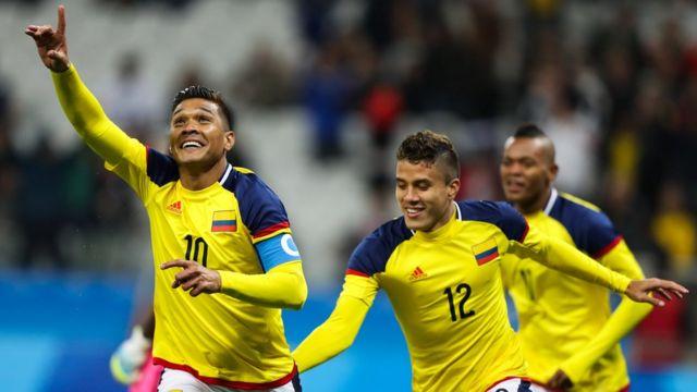 Teófilo Gutiérrez celebra un gol