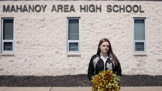 براندي أمام مدرستها