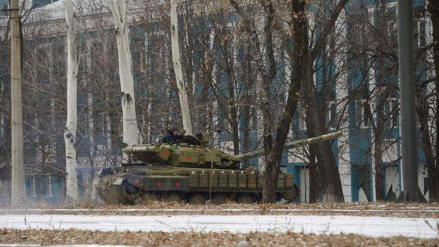 Танк у Донецьку