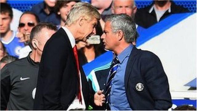 Akọnimọọgba Arsenal nigba kan ri Arsene Wenger kọ lu akọnimọọgba Chelsea nigba kan ri Jose Mourinho