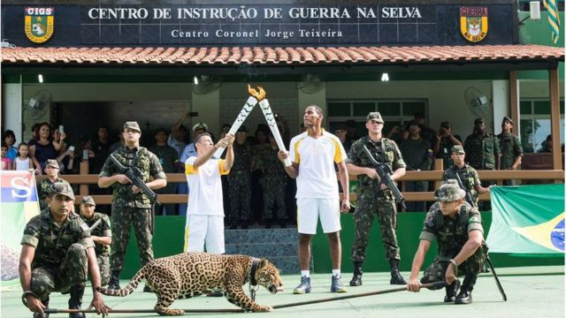 Onça Simba também participou de cerimônia