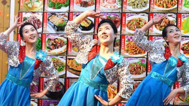 Um dos restaurantes da rede da Coreia do Norte