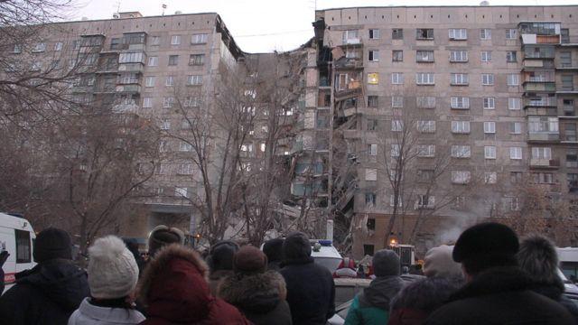 Обрушение подъезда в Магнитогорске