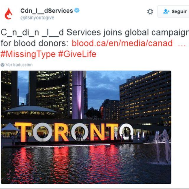 Toronto sin las letras o iluminadas,