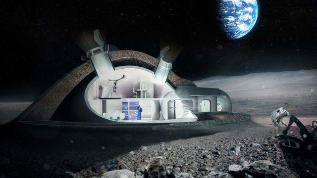 Base lunar de Foster+Partners y la Agencia Espacial Europea.