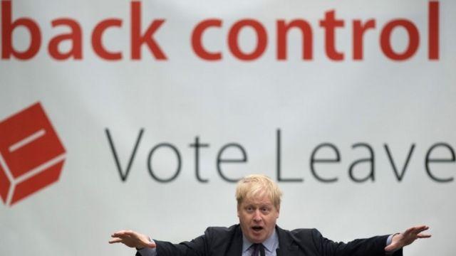 Boris Johnson tại event của Vote Leave