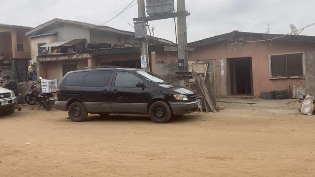 L'ancienne maison de Hushpuppi, 9 rue Ogunyomi dans le quartier Oworonshoki de Lagos