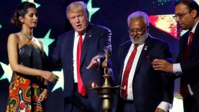 डोनल्ड ट्रंप के साथ शलभ कुमार