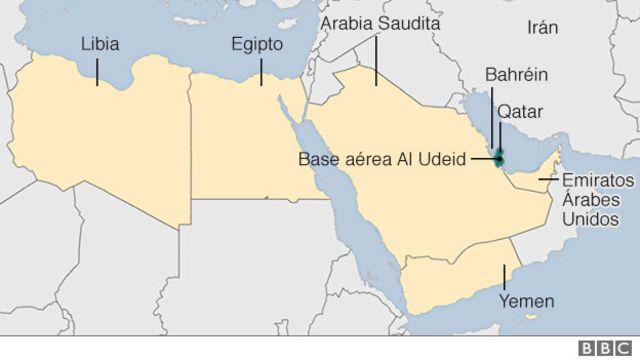 Mapa Golfo Pérsico
