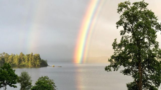 'Incredibly rare rainbow' photographed in Highlands