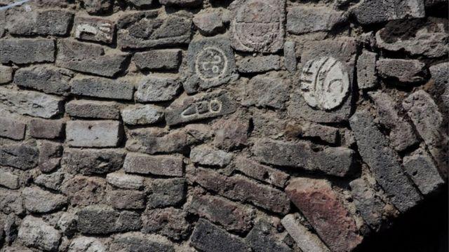 Glifos en piedras del Albarradón de Ecatepec