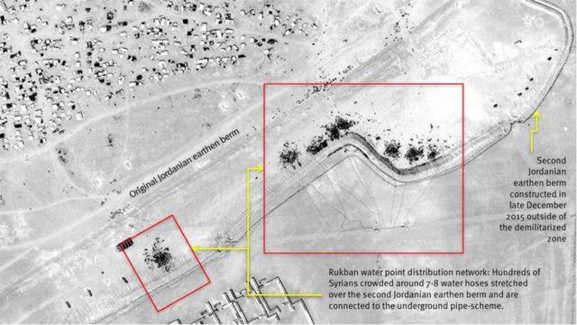 Imagen satelital del campamento de Ruqban