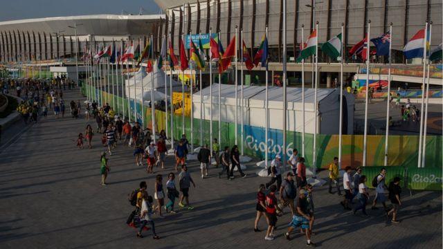Área externa do Parque Olímpico, onde ocorreram a maior parte das competições da Rio 2016