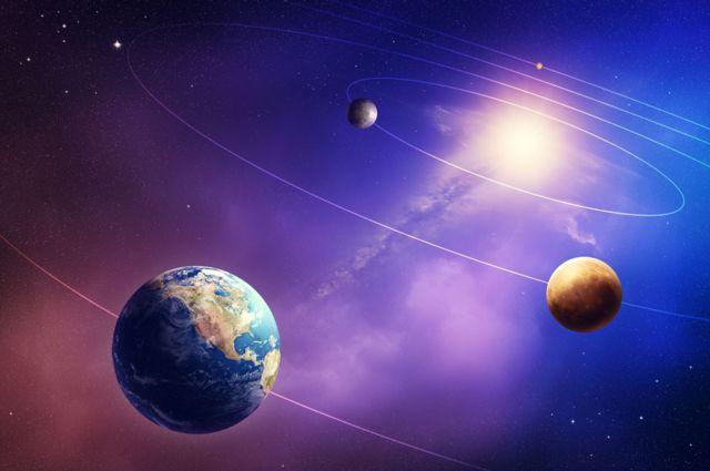 Terra, Vênus e Mercúrio