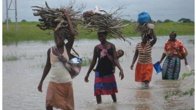 mozambique, évacuation population