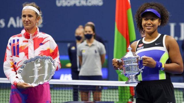 """""""Chúc mừng Naomi và nhóm của cô. Tôi hy vọng chúng ta có thể gặp lại trong các trận chung kết khác nữa,"""" Azarenka nói."""