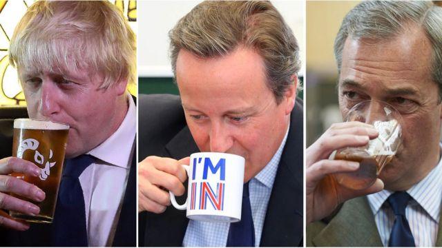 Johnson, Cameron y Farage