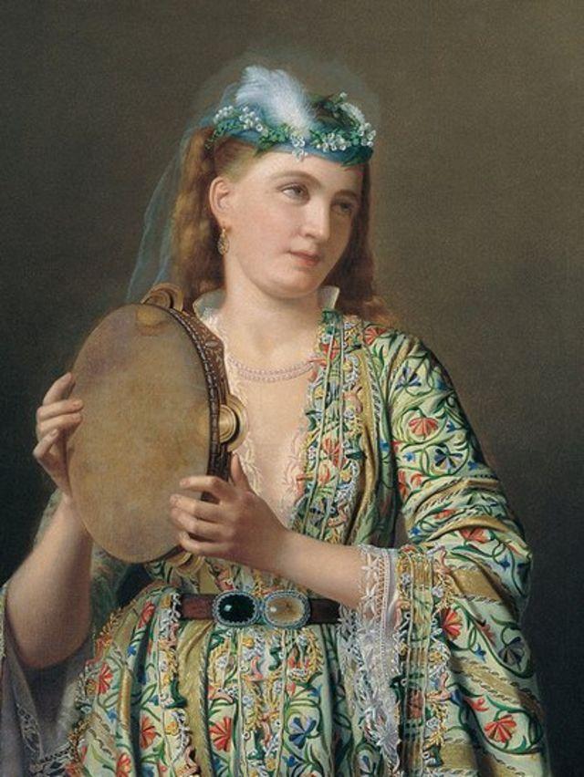 19 ویں صدی میں شاہی محل کی ایک خاتون