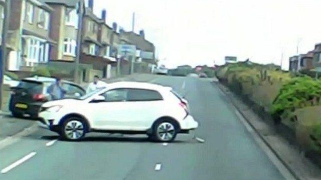 Car crash in Dewsbury