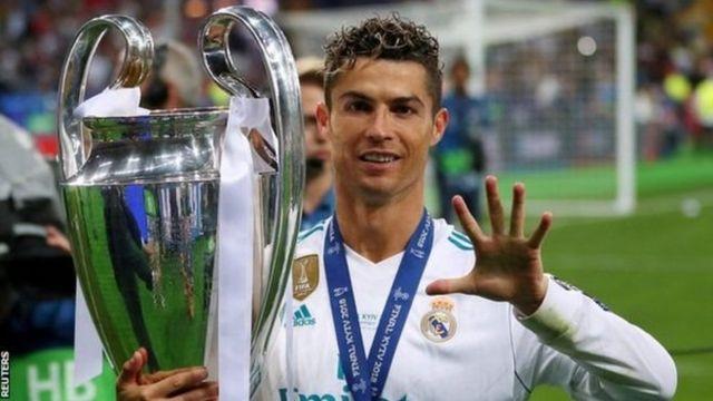 Ronaldo waa ciyaaryahanka kaliya ee 5 jeer ku guuleystay koobka Champions League-ga