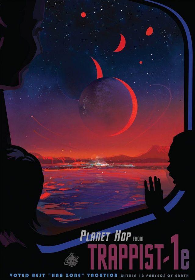 NASA випустила навіть постер про ймовірну подорож до системи з виявленими екзопланетами