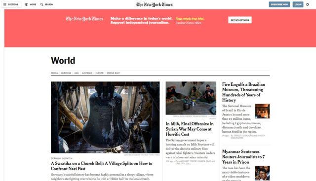 Site do New York Times