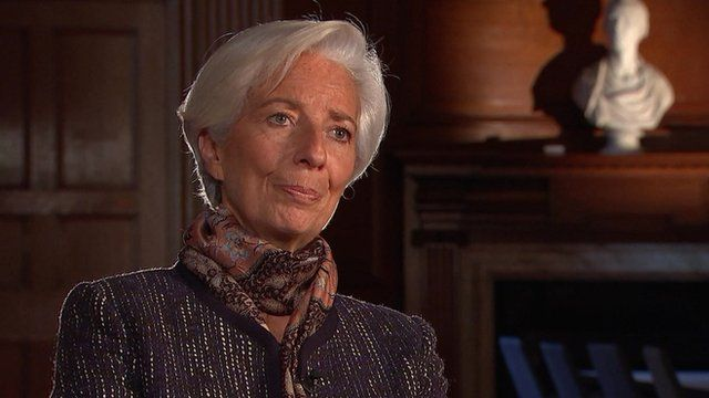 Christine Lagarde, the managing director of the IMF